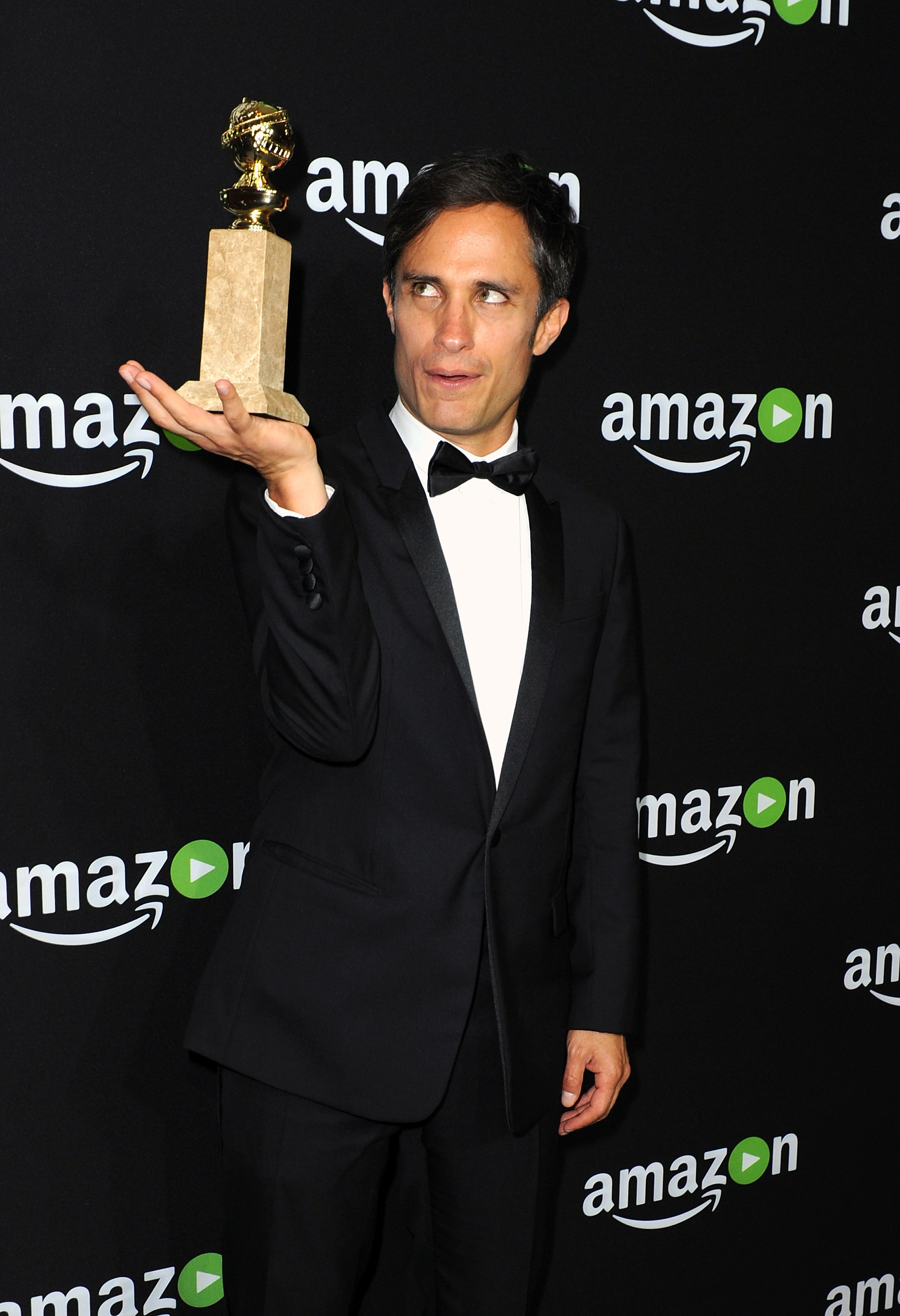 BEVERLY HILLS, CA - JANUARY 10: Actor Gael Garcia Bernal, winner of Best Performance in a Television Series - Musical or Comedy for 'Mozart in the Jungle,' attends Amazon Studios Golden Globe Awards Party at The Beverly Hilton Hotel on January 10, 2016 in Beverly Hills, California. Joshua Blanchard/Getty Images/AFP