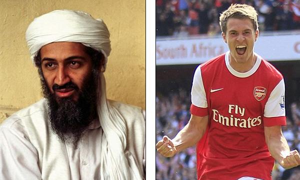 En mayo del 2011 convirtió con la camiseta de Arsenal, al día siguiente el gobierno de Estados Unidos anunció la muerte del terrorista más buscado, Osama Bin Laden.