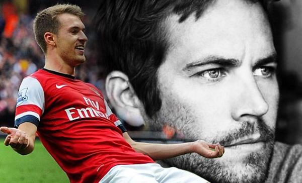 A fines del 2013, el 30 de noviembre el jugador del Arsenal anotó dos goles frente al Cardiff, ese mimos día el actor Paul Walker pierde la vida en un accidente.