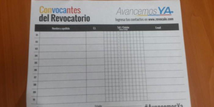 PJ - Firmas Revocatorio