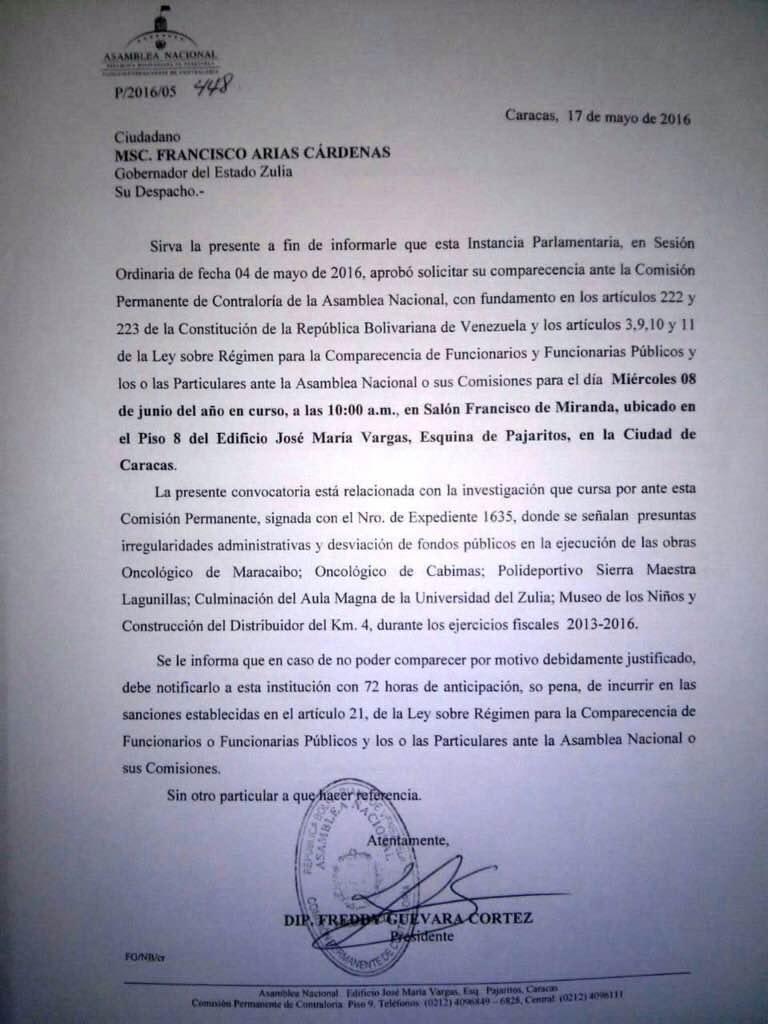 Doc Citación a Arias Cárdenas