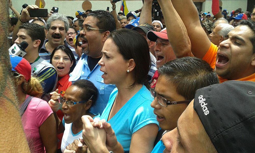 Maria Corina Machado - Movilización Oposición - CNE