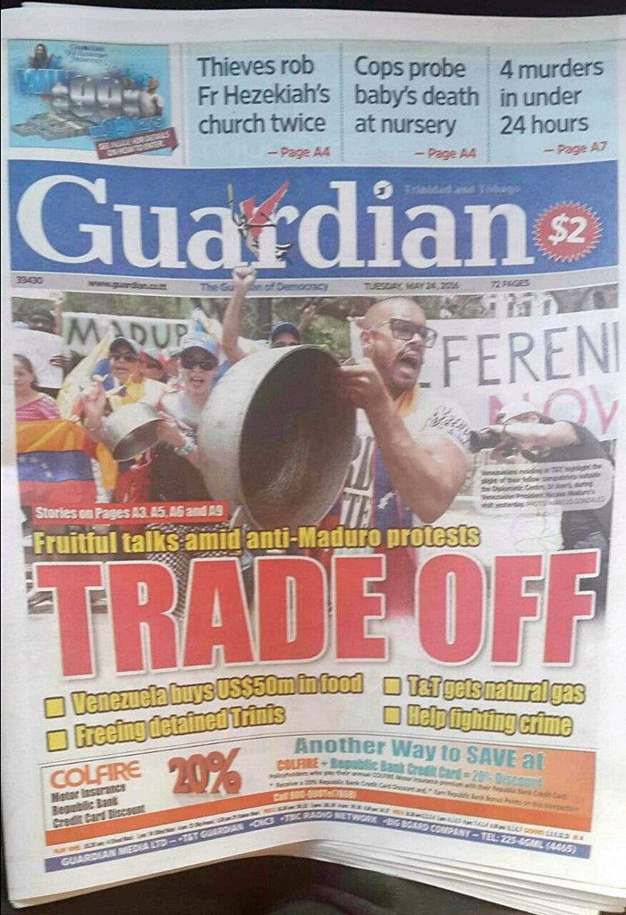 Protesta contra Nicolas Maduro en Trinidad y Tobago (4)