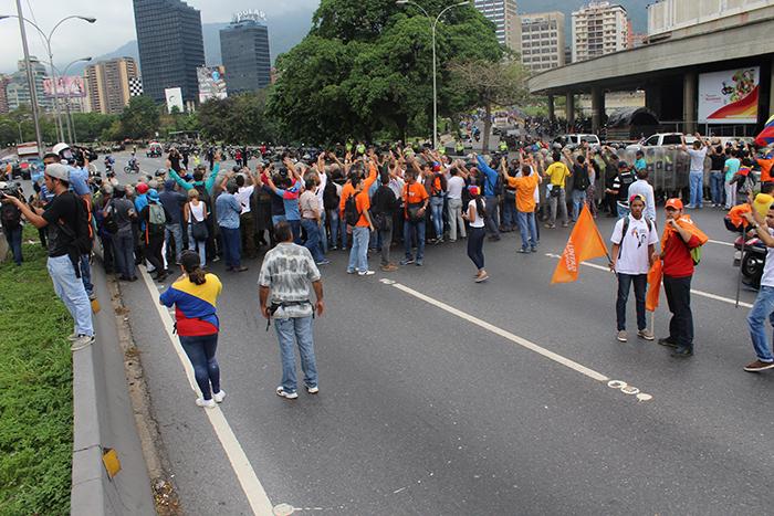 marcha oposicion cne piquete gnb
