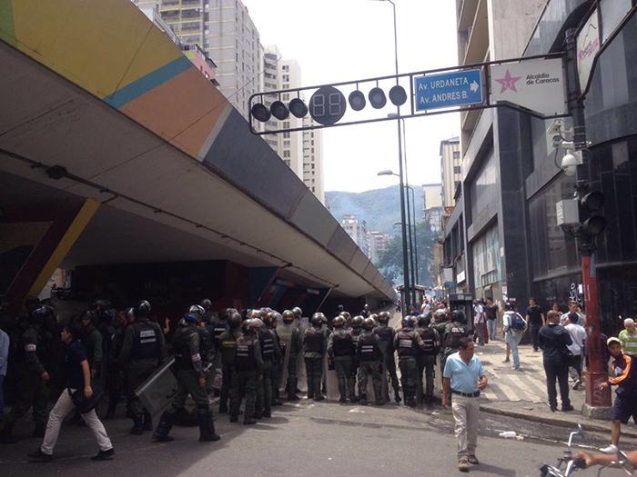 protesta fuerzas armadas gnb