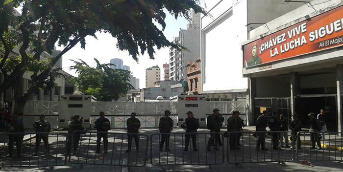 gnb piquete barrera palacio de justicia