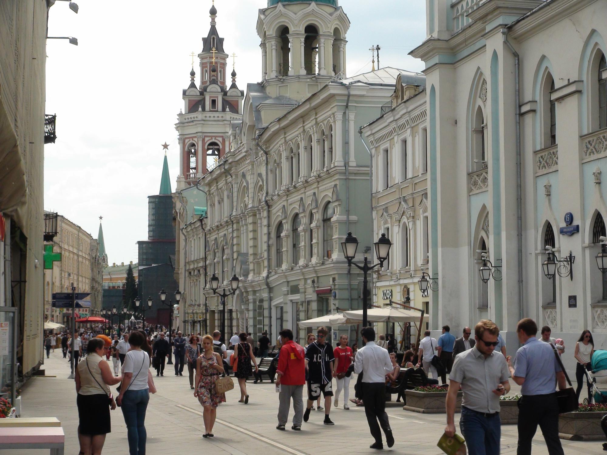 Una imagen de la bella Calle Nikólskaya. Foto: Daria Shuváeva