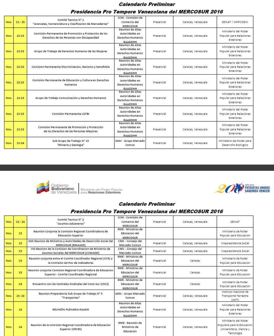 Mercosur-Noviembre 3
