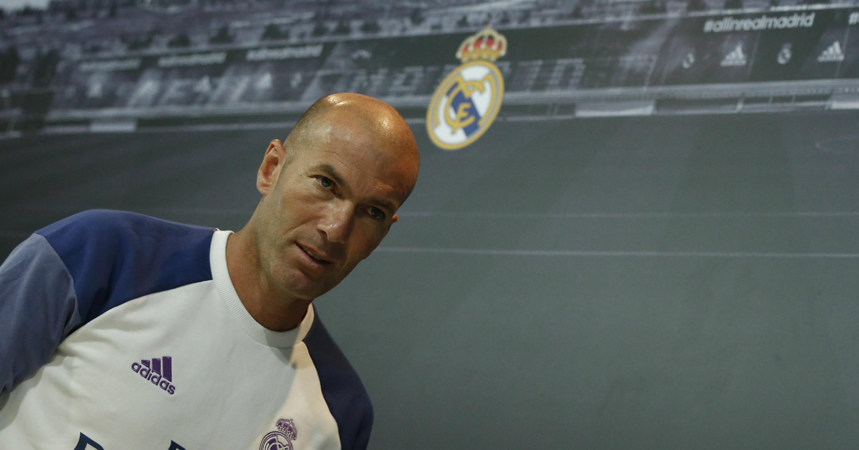 El entrenador del Real Madrid, Zinedine Zidane, uno de los mejor pagados del fútbol europeo.