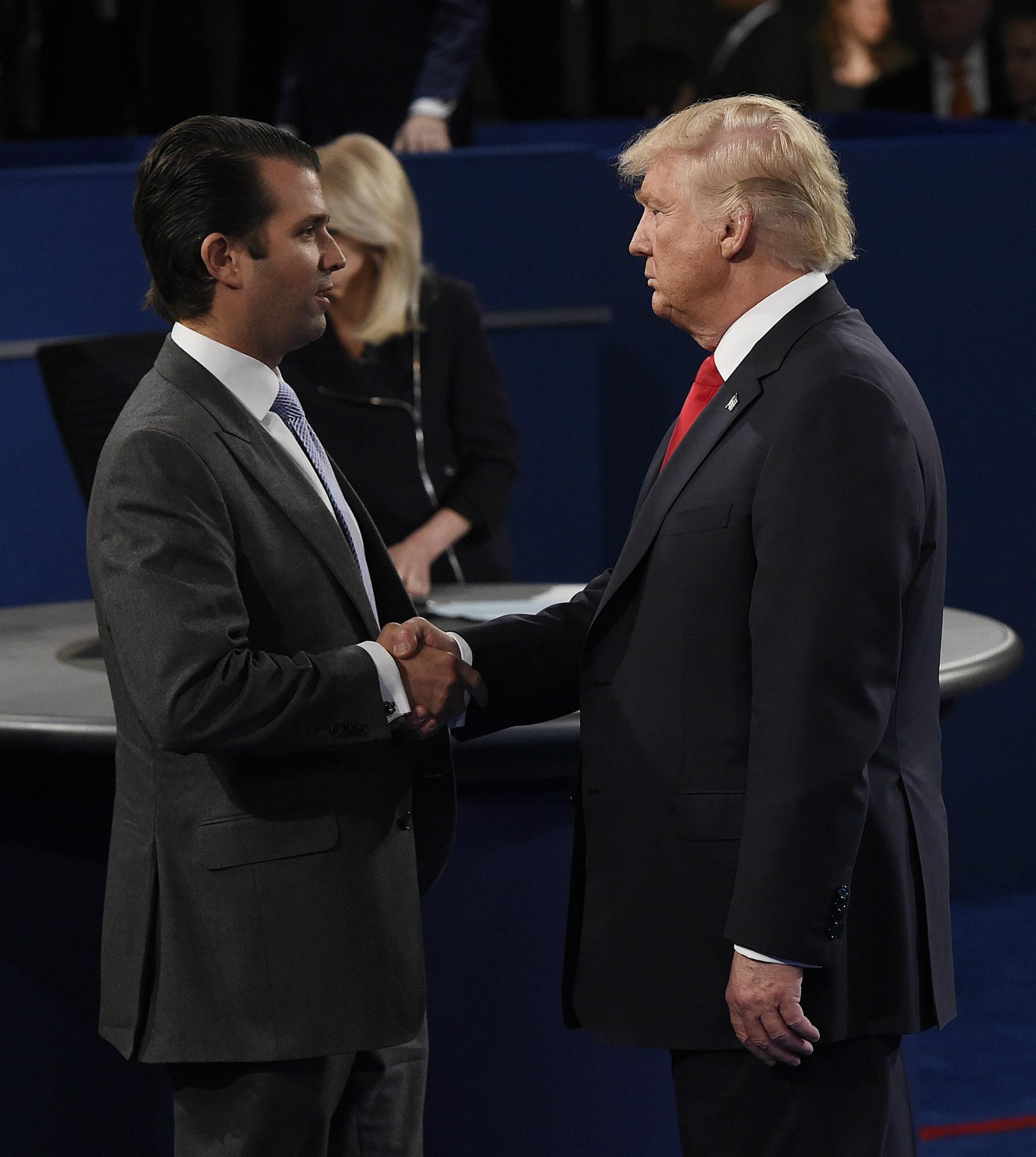 Donald Trump ha estado muy respaldado por su hijo mayor, Donald Jr. EFE/EPA/SAUL LOEB