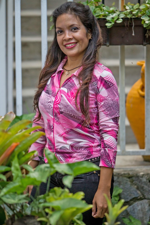 Fernanda Godoy, modelo del estudio Dinas Espacios ubicado en el este de Caracas (Venezuela). EFE