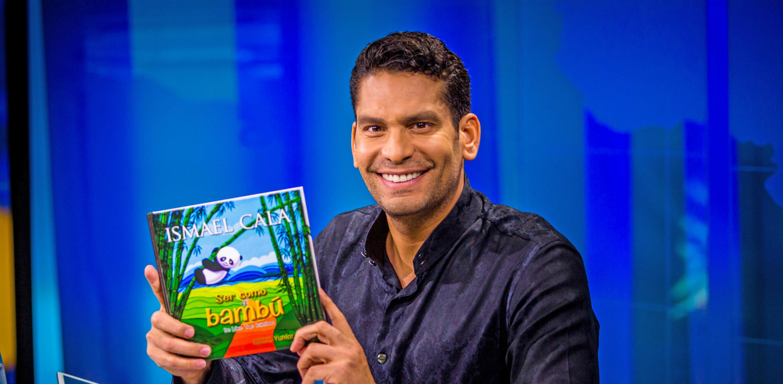 Ismael Cala incita a los niños a desarrollar su crecimiento personal y valorar la naturaleza en su primer libro infantil Ser como el bambú. Basado en su anterior libro, El secreto del bambú (2015). EFE/SÓLO USO EDITORIAL