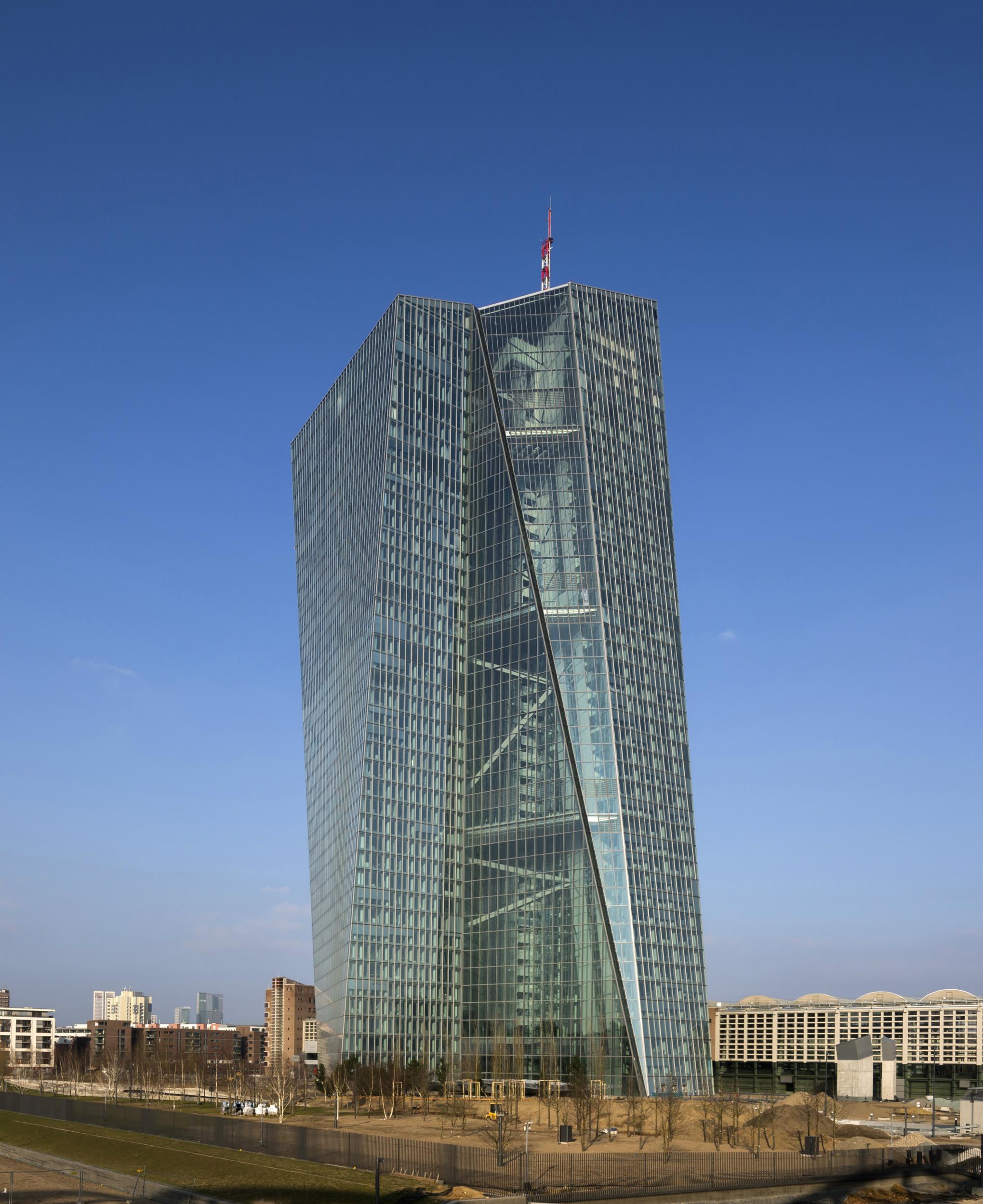 Imagen de la estrucuta del European Central Bank, en Fráncfort, Alemania. Foto: Paul Raftery. Foto cedida por The Council on Tall Buildings and Urban Habitat (CTBUH).